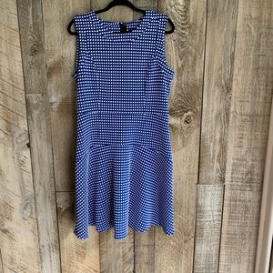 Tommy Hilfiger Blue Square Sleevelss Sheath Sz14
